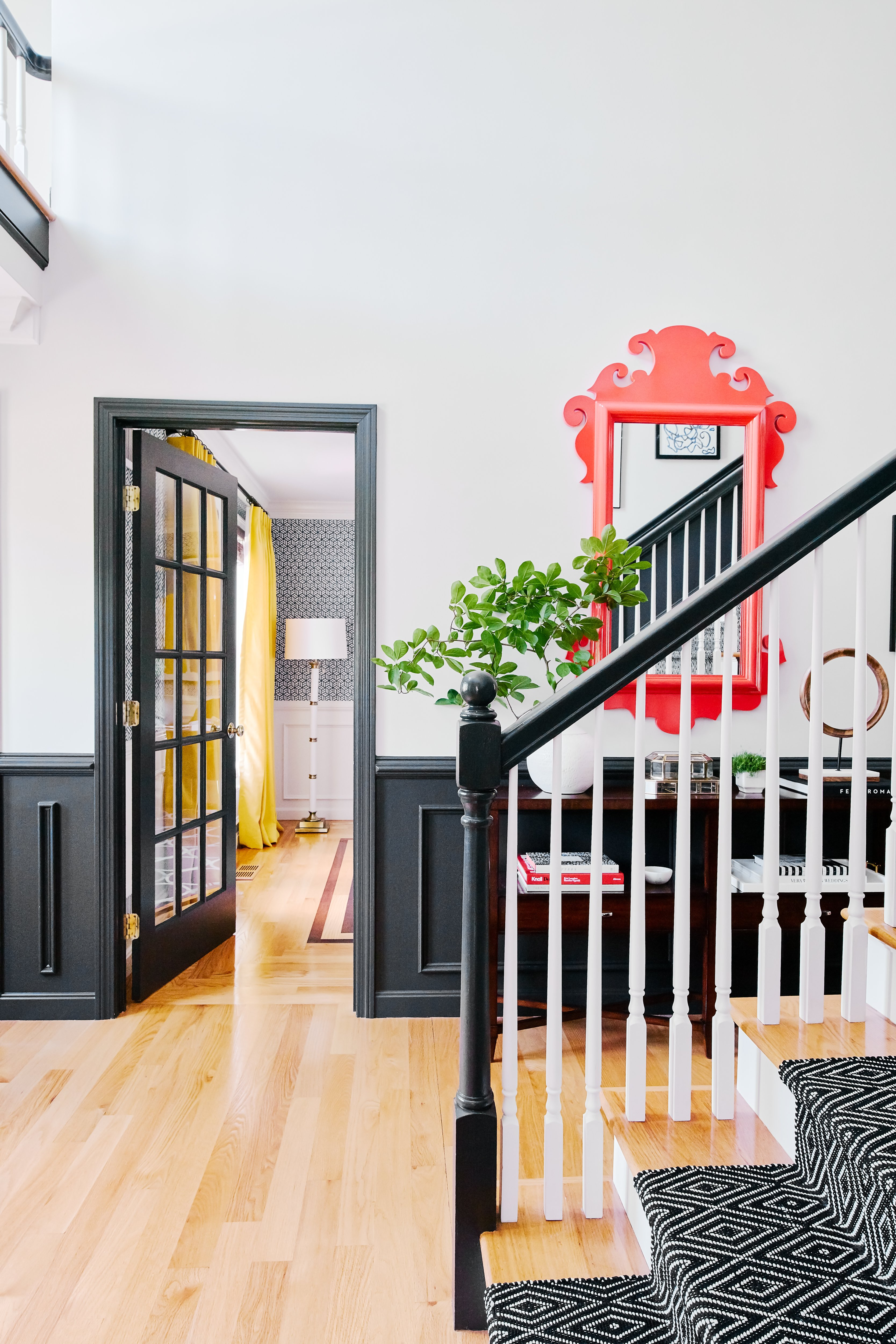 black entry staircase