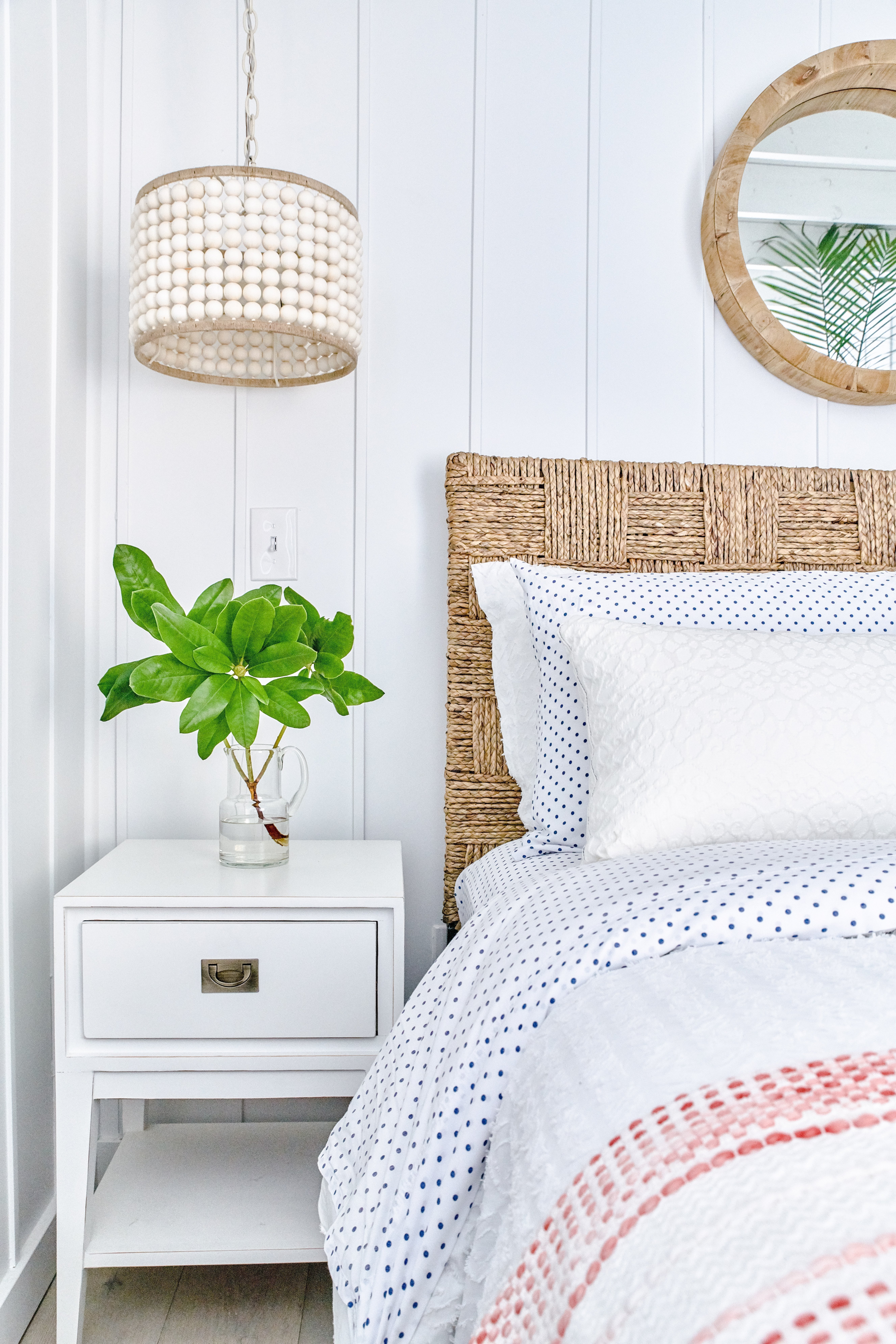 white coral master bedroom