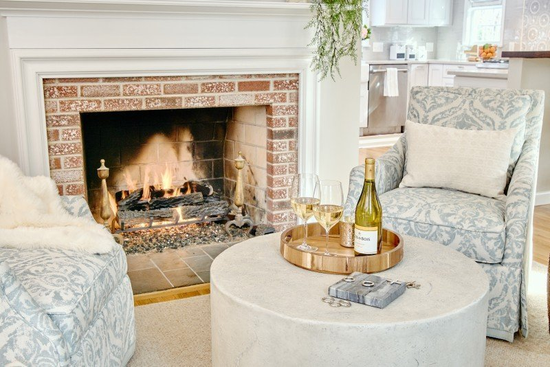 greenwich interior design remodel ri entertaining area open concept fireplace