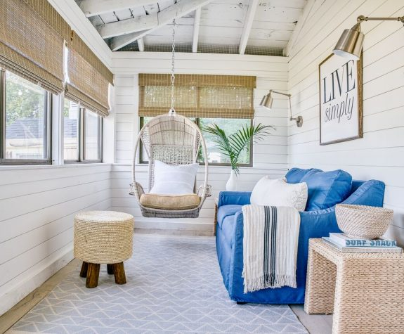 vibrant coastal how to get the look blakely interior design ri indoor porch setup