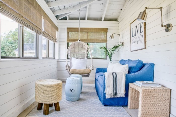 vibrant coastal how to get the look blakely interior design ri indoor porch