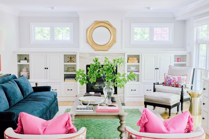 emotional impact of color in space ri pink family room