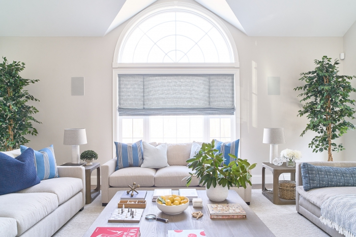 blakely interior design RI completed home living room blue white