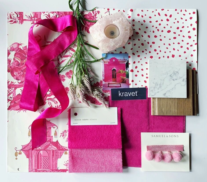 flatlay-pink-fabrics-stone-tile-patterns-white-cream-gold-blakely-interior-design