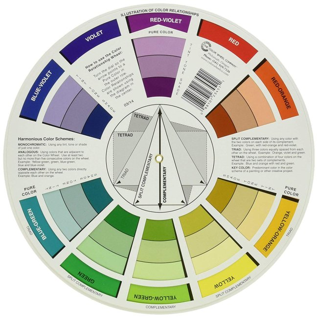 color wheel for palettes complementary tertiary