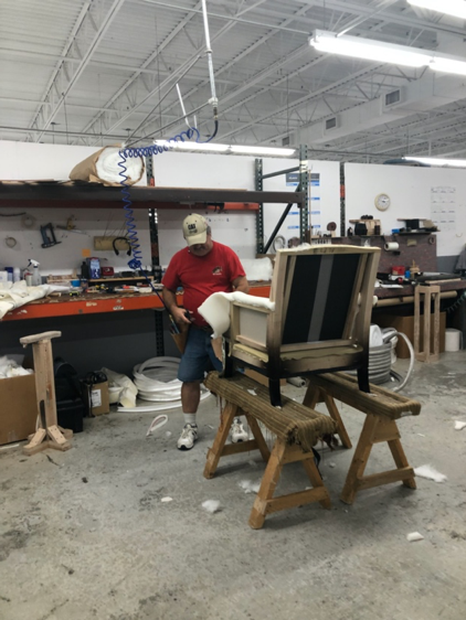 watching furniture chair making process high point market workshop behind the scenes