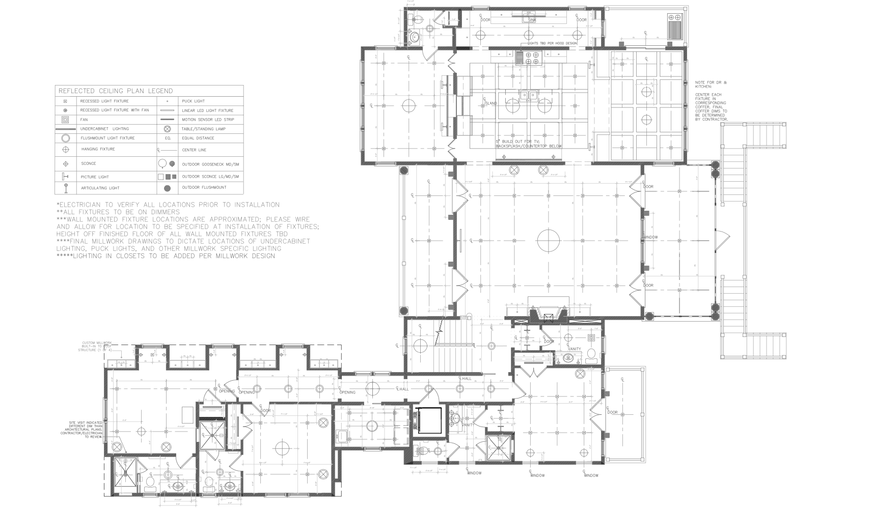 reflected ceiling plan large first floor home kingston RI blakely interior design firm detailed