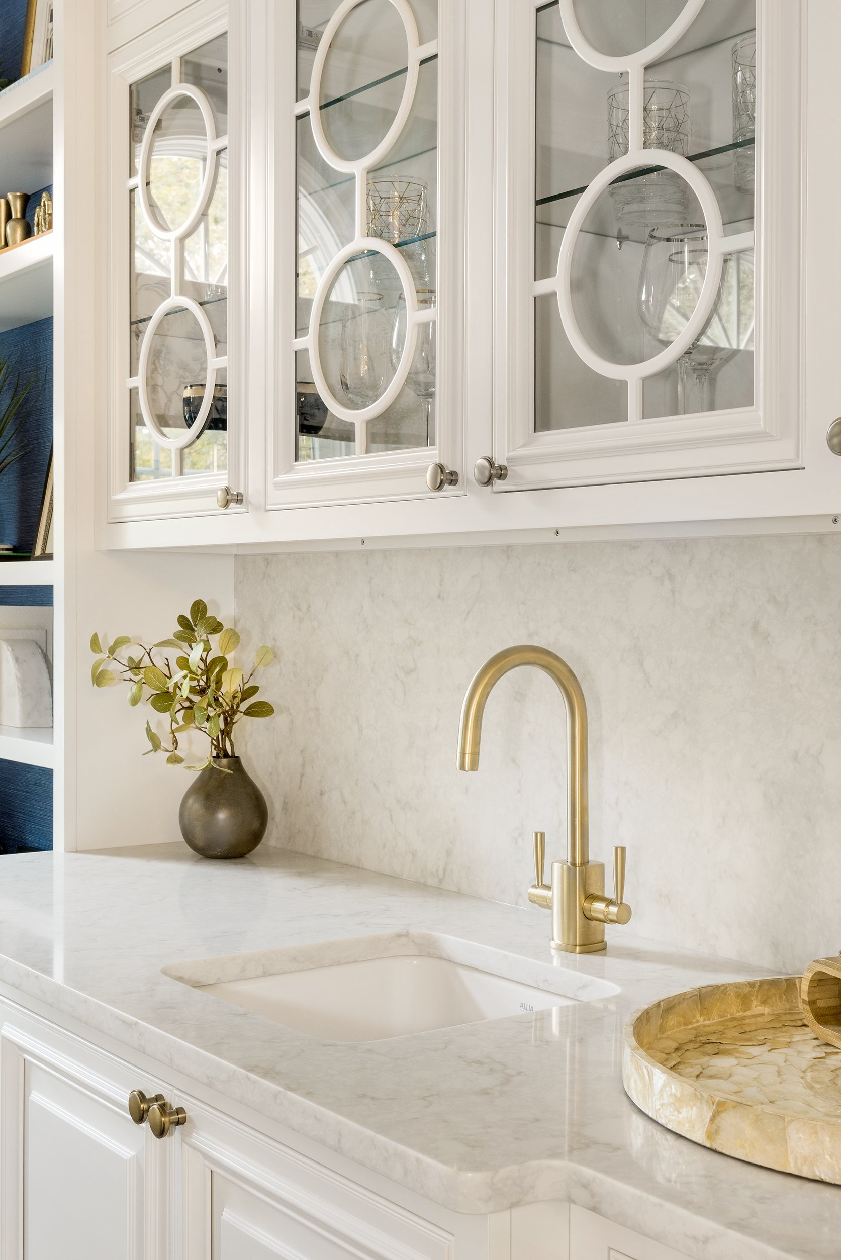 Blakely Interior Design The Linden Project Wet Bar Sink