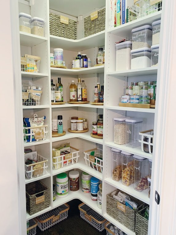 NEAT Pantry After organized labeled bins systems easy life function daily