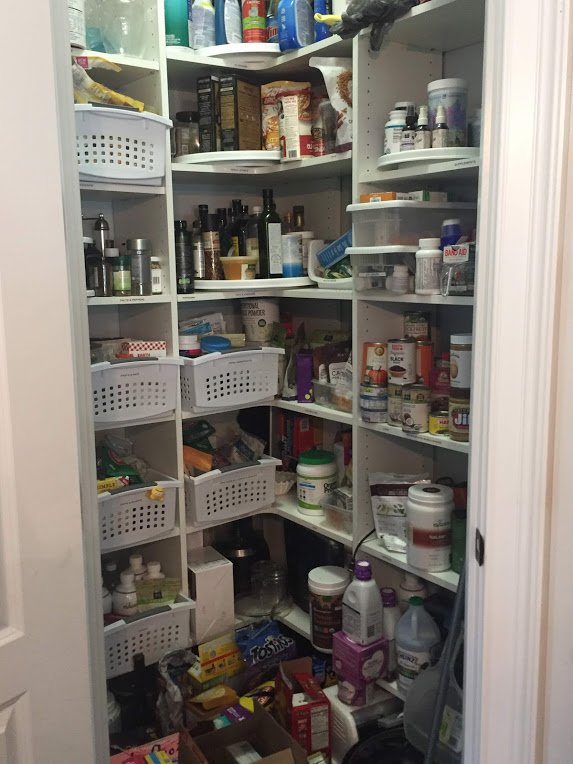 NEAT method Pantry Before cluttered disorganized hard to find