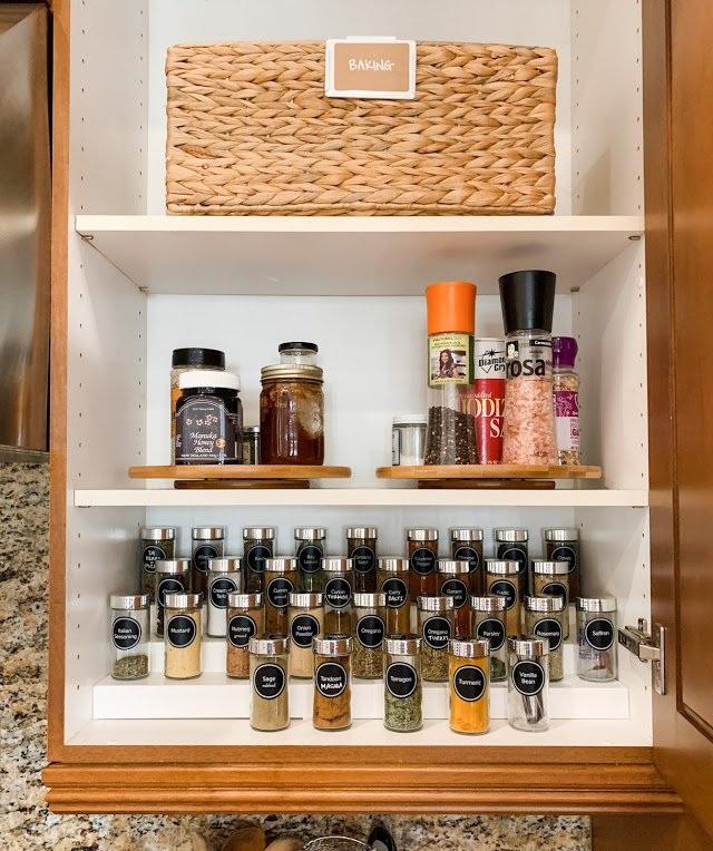 after organized spice cabinet NEAT method organizing service