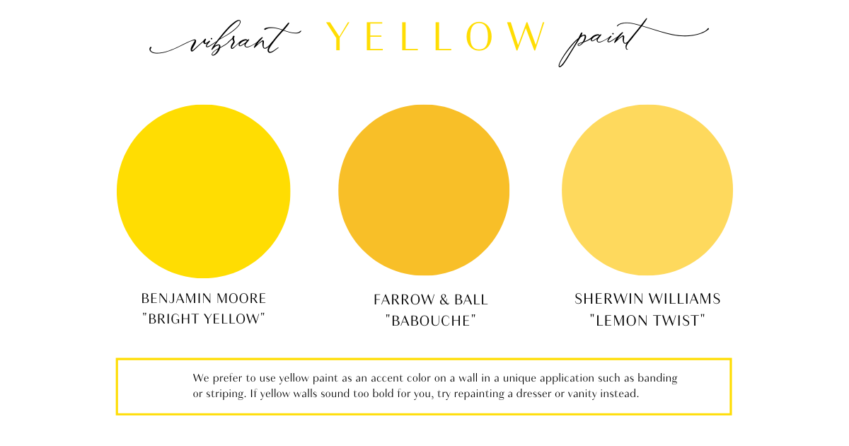 Vibrant yellow paint colors