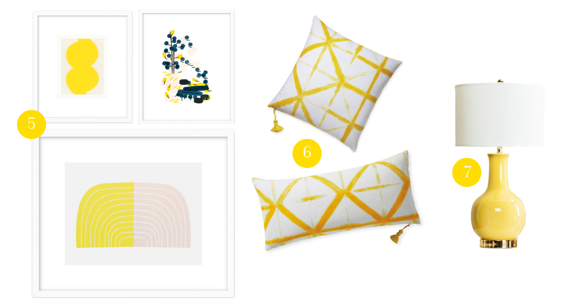 home accessories in yellow