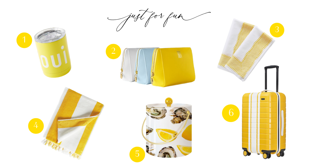 fun accessories in yellow