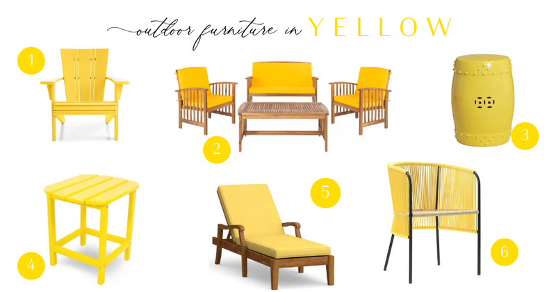 outdoor furniture in yellow