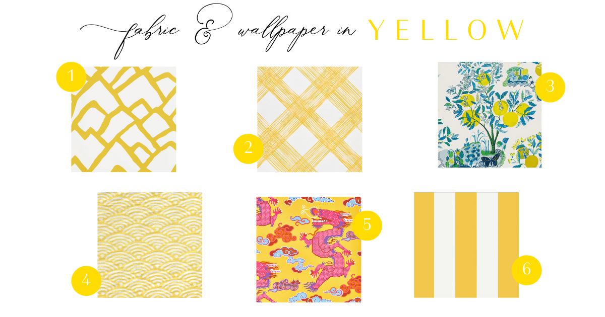 Fabric & Wallpaper in yellow
