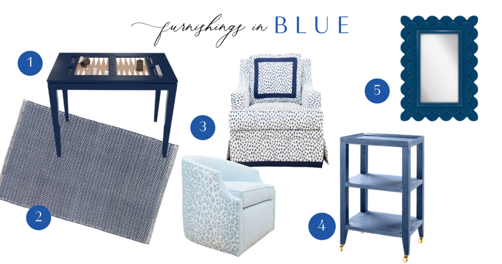 The Color Series Blue - Furnishings in Blue