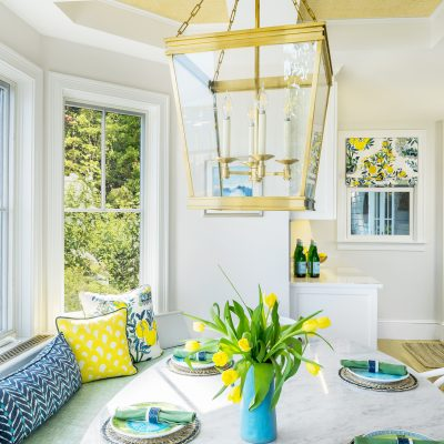 Blakely Interior Design - The Lemon Tree Project | Breakfast book dining table and banquette