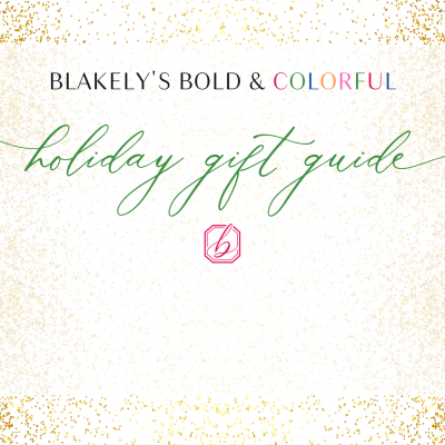 blakely interior design bold colorful holiday gift guide fashion design lovers