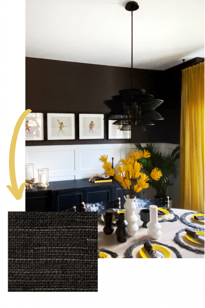 shang extra fine sisal in black by thibault narragansett formal dining room bold sexy