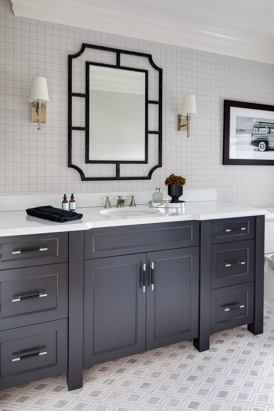 Blakely Interior Design | The Jersey Palm Project | His Master Bathroom