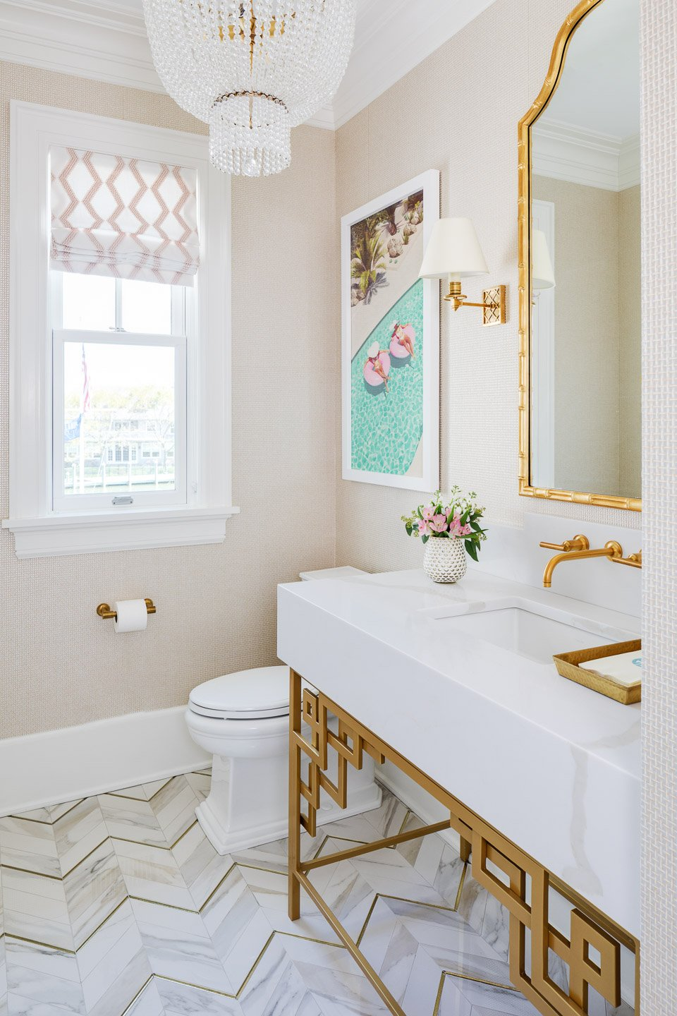 Blakely Interior Design | The Jersey Palm Project | Powder Room