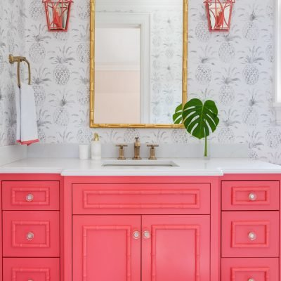 Blakely Interior Design | The Jersey Palm Project | Daughter's Bathroom Vanity