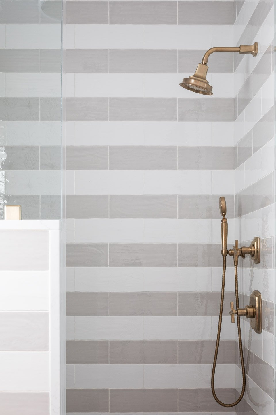 Blakely Interior Design | The Jersey Palm Project | Daughter's Bathroom Shower