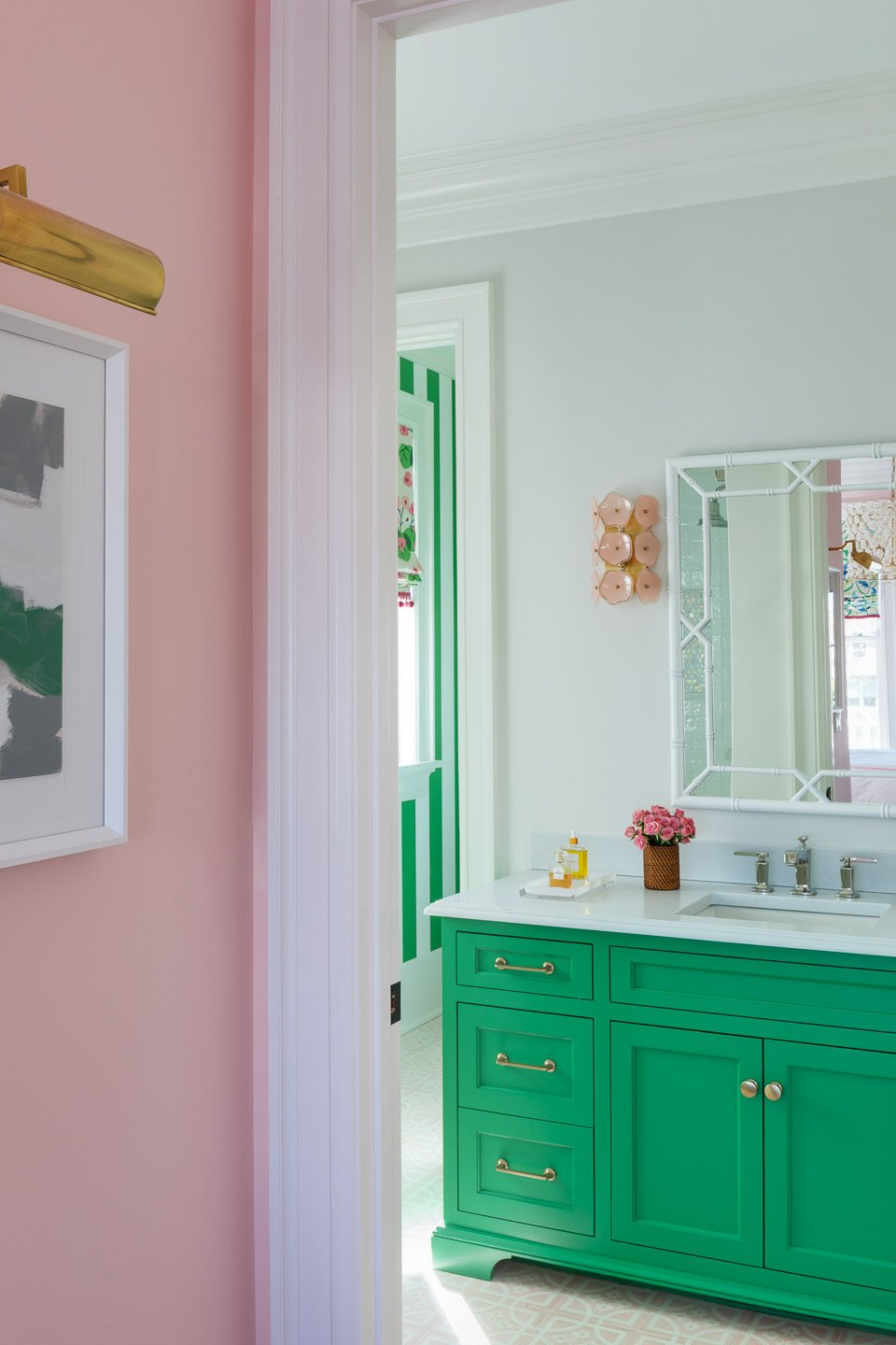 Blakely Interior Design | The Jersey Palm Project | Daughter's Bathroom