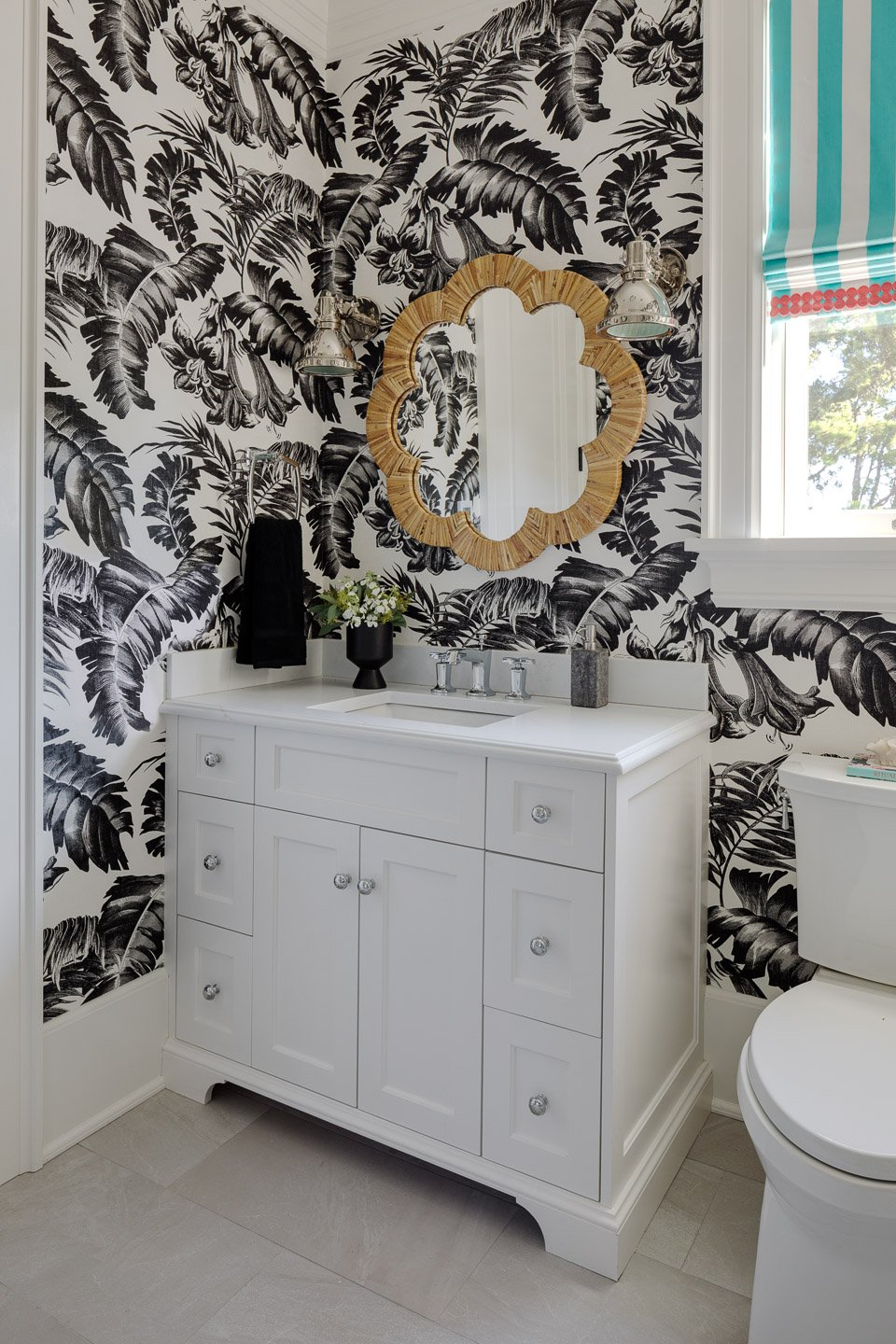Blakely Interior Design | The Jersey Palm Project | Guest Bathroom