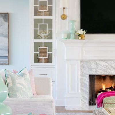 Blakely Interior Design | The Jersey Palm Project | Built In Shelving