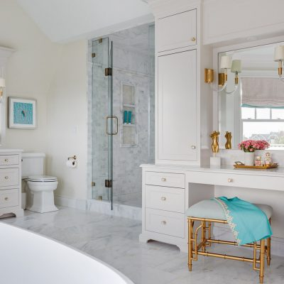 Blakely Interior Design | The Jersey Palm Project | Her master bathroom