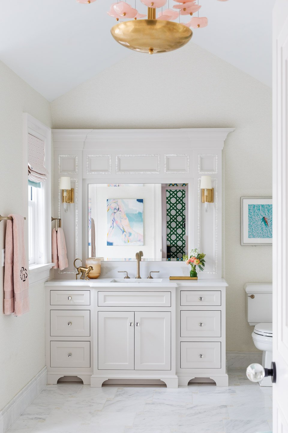 Blakely Interior Design | The Jersey Palm Project | Master bathroom vanity