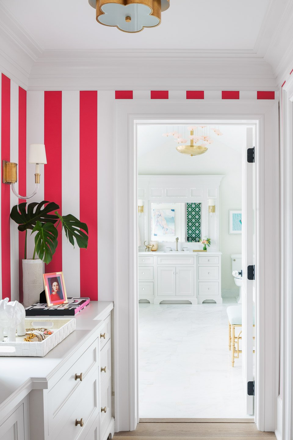 Blakely Interior Design | The Jersey Palm Project | Dressing Room and Bathroom