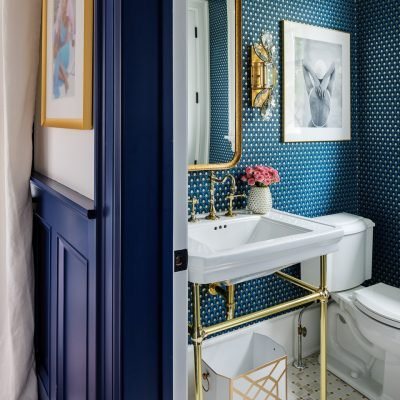 Blakely Interior Design | The Jersey Palm Project | The Lounge Powder Room