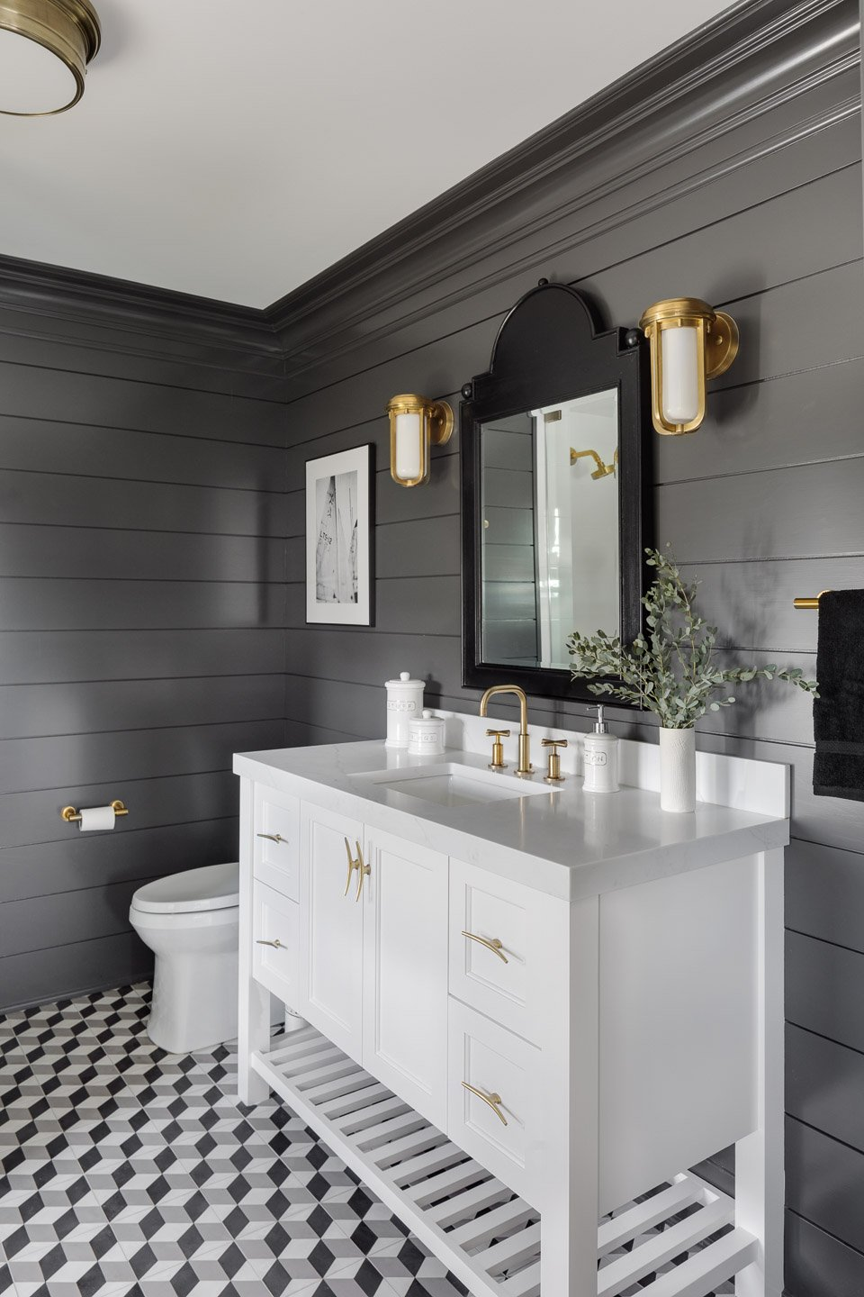 Blakely Interior Design | The Jersey Palm Project | Ensuite bathroom