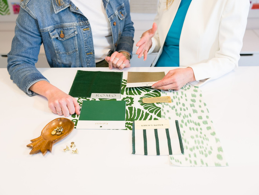 blakely interior design kingstown ri behind the scenes design library designers talking about fabrics shades of green