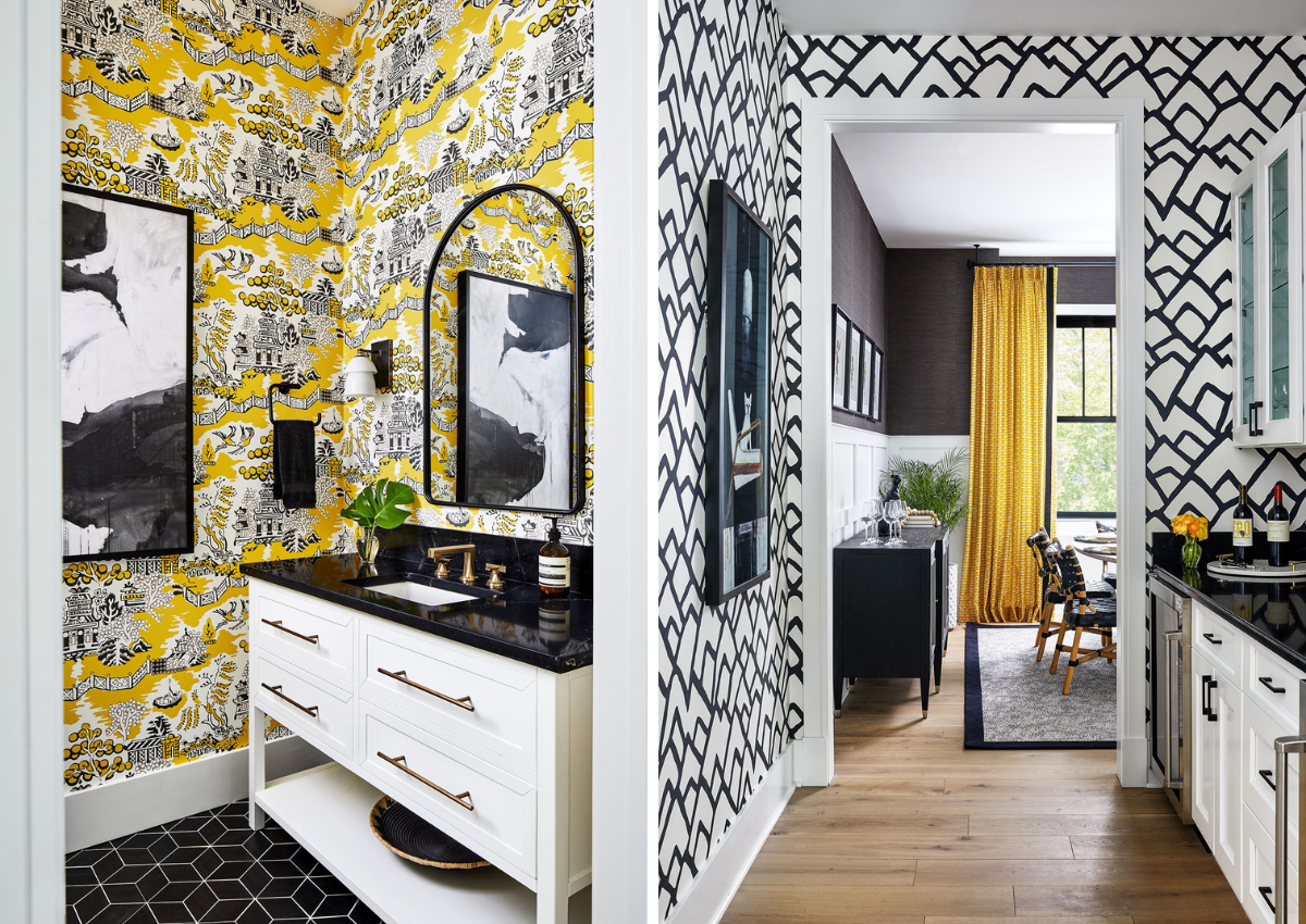 blakely interior design kingstown ri small spaces black and white intricate wallpaper butlers pantry