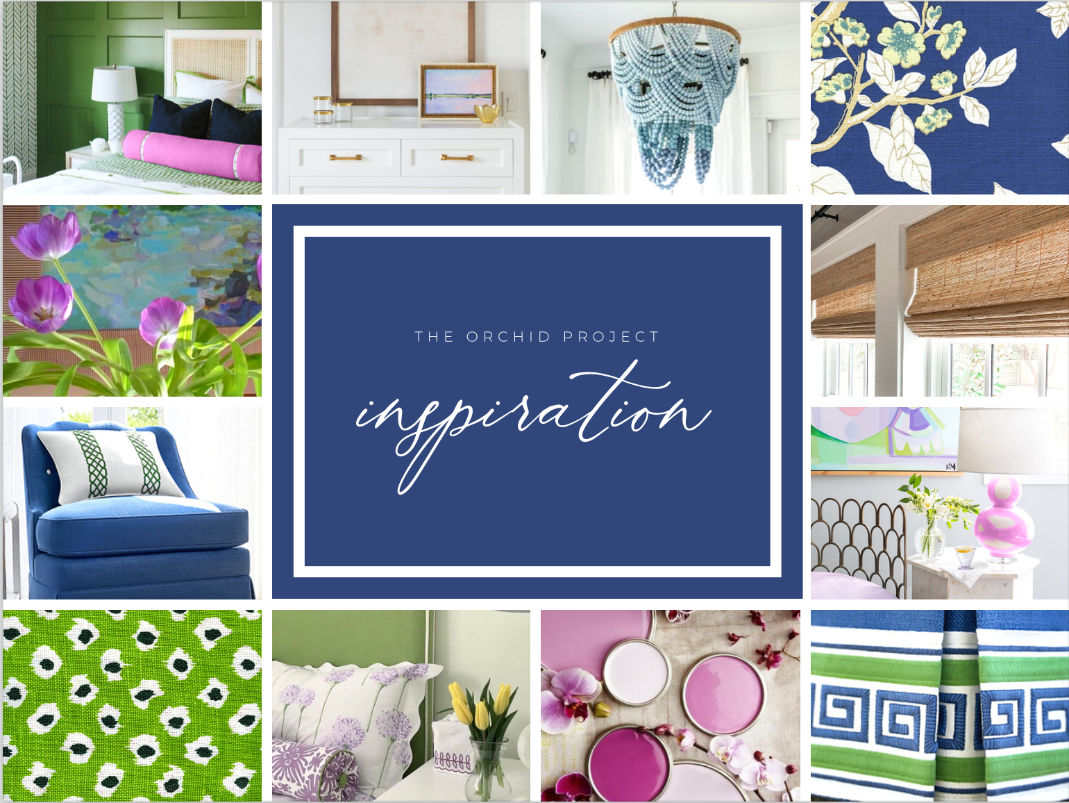 Blakely interior kingstown ri design create inerior design concept concept board orchid project blue green patterns beaded chandelier pink and purple paint samples