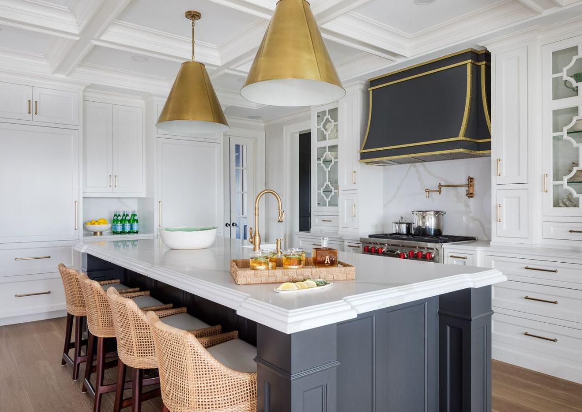 blakely interior design newport ri mixing metals kitchen with black brass and nickle finishes