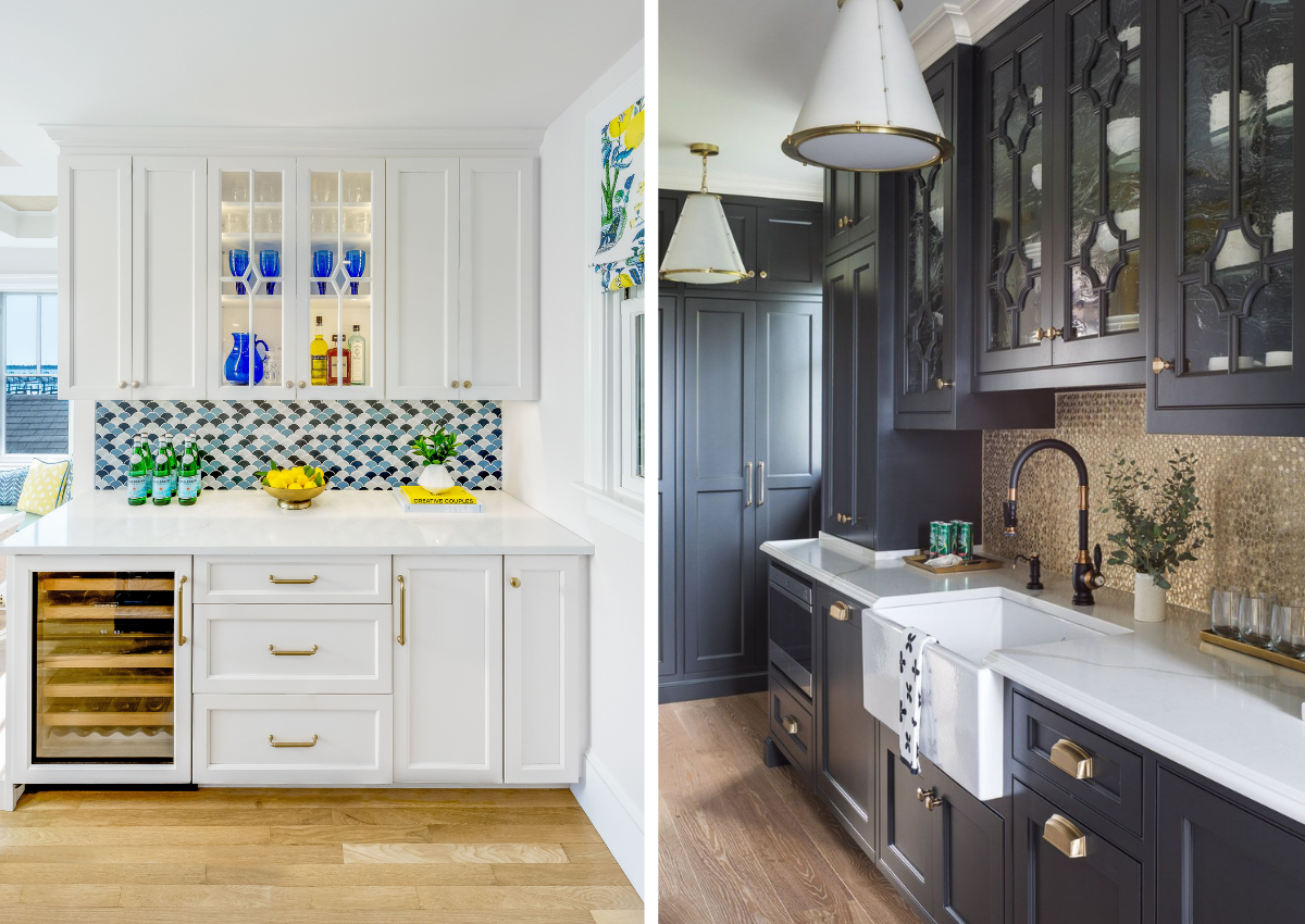 blakely inerior design new england designing with tile powder side by side photos of kitchen and beverage center
