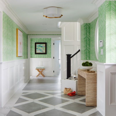 blakely interior design kingstown ri decorating with tile entry way green patterned wallpaper