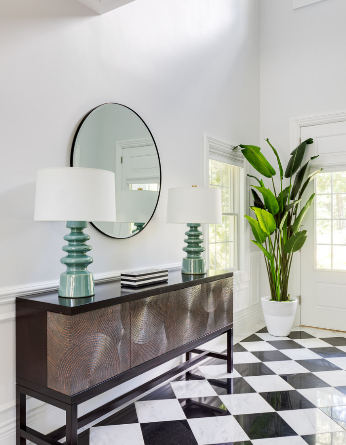 blakely interior design newport new england traditional design in east greenwich entry way after stunning cradenza black and white check floor